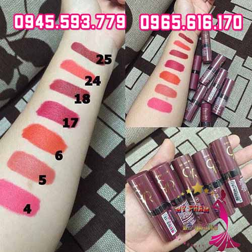 Son golden rose velvet matte lipstick-2
