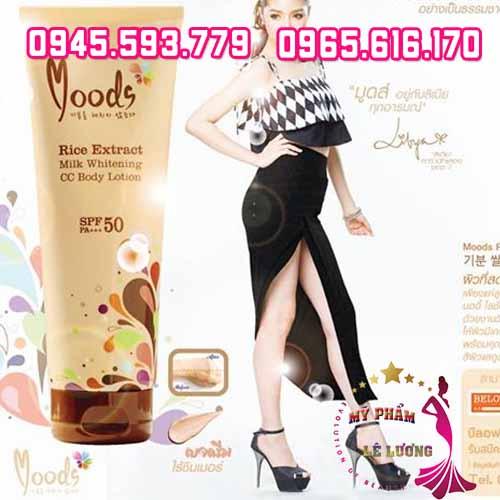 Kem body lotion Moods Rice Extract Milk Whitening-2