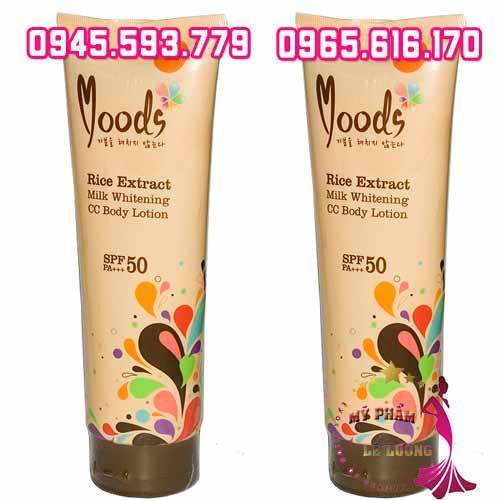 Kem body lotion Moods Rice Extract Milk Whitening-3