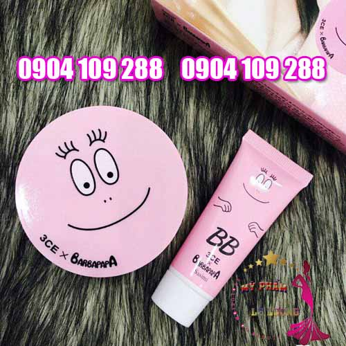 3CE Sasimi Barbapapa cushion BB cream-1