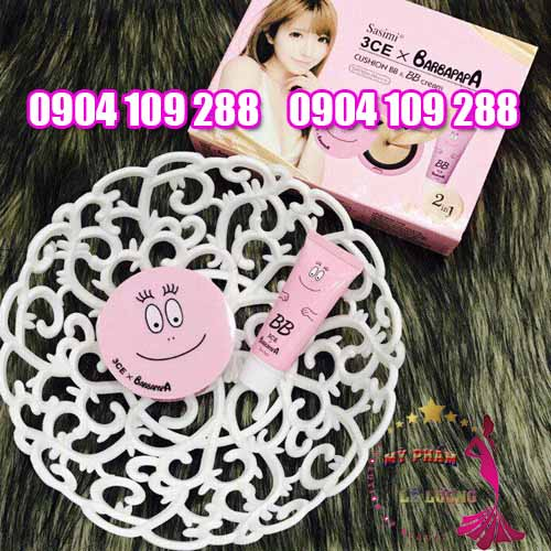 3CE Sasimi Barbapapa cushion BB cream