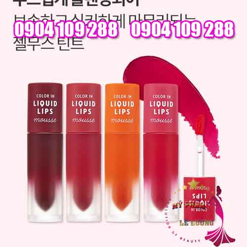 son kem Etude House Color In Liquid Lips Mousse
