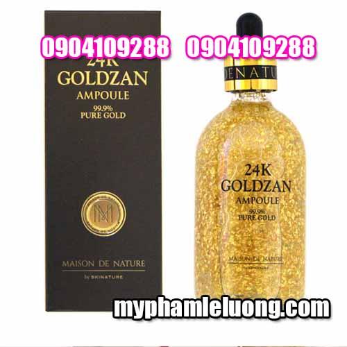 Serum 24k Goldzan Ampoule 99 9% Pure Gold 100ML-3