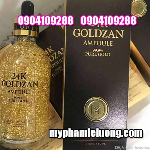 Serum 24k Goldzan Ampoule 99 9% Pure Gold 100ML