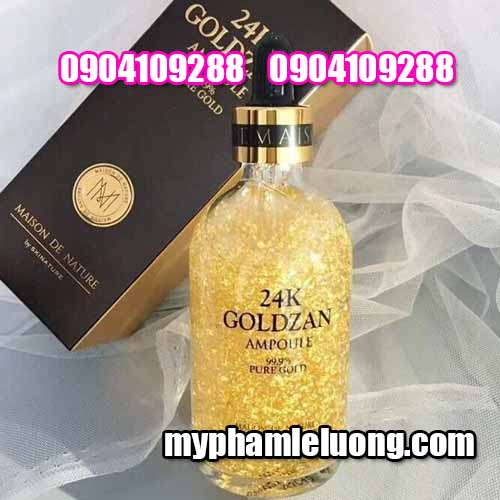 Serum 24k Goldzan Ampoule 999% Pure Gold 100ML-4